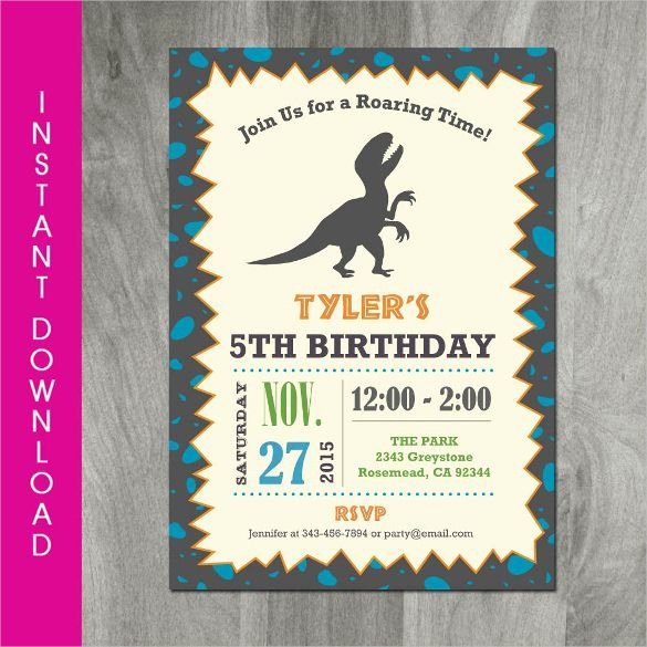 Dinosaur Birthday Invitation Template Fresh 26 Dinosaur Birthday Invitation Templates – Free Sample