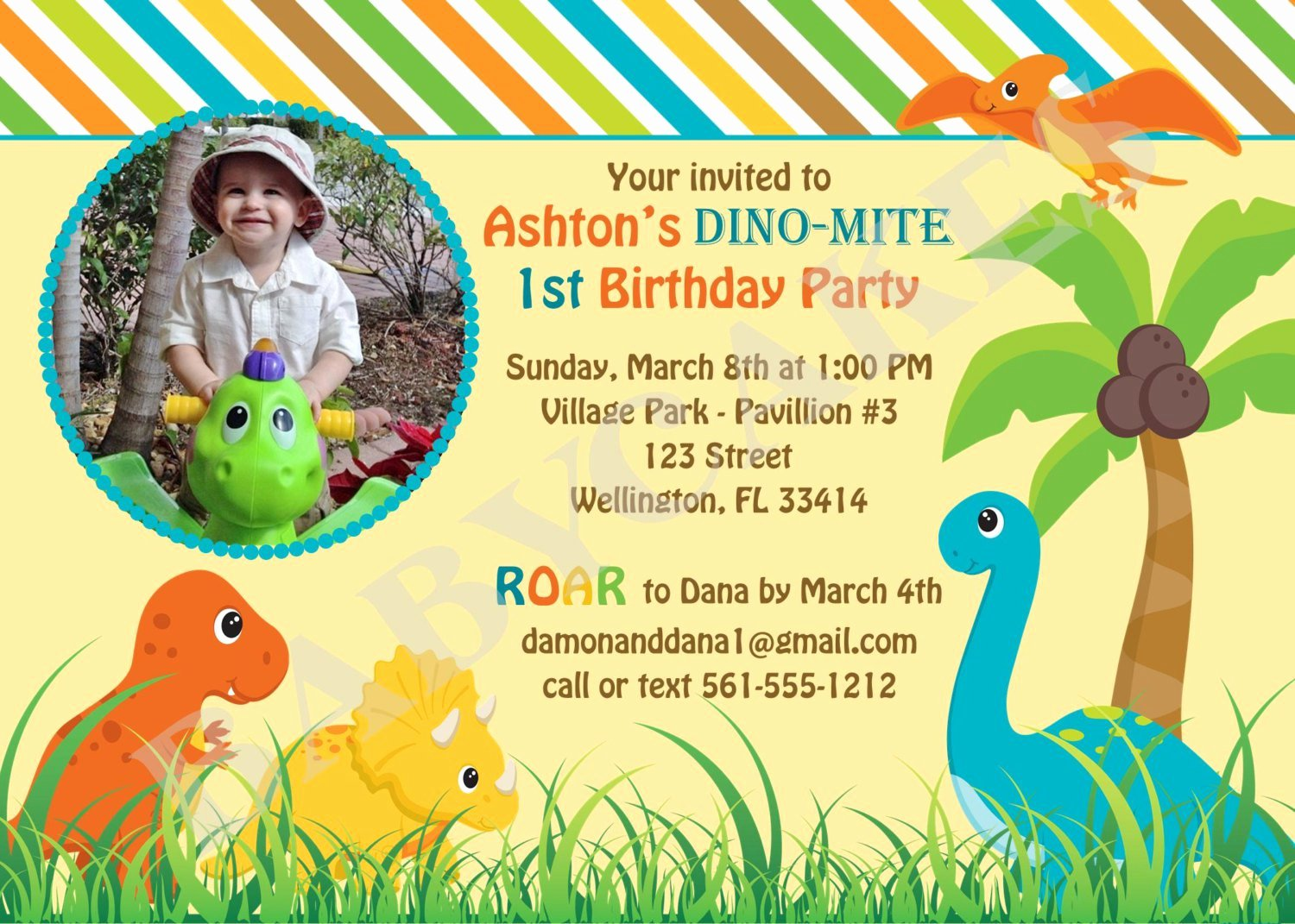 Dinosaur Birthday Invitation Template Lovely Dinosaur Birthday Invitation