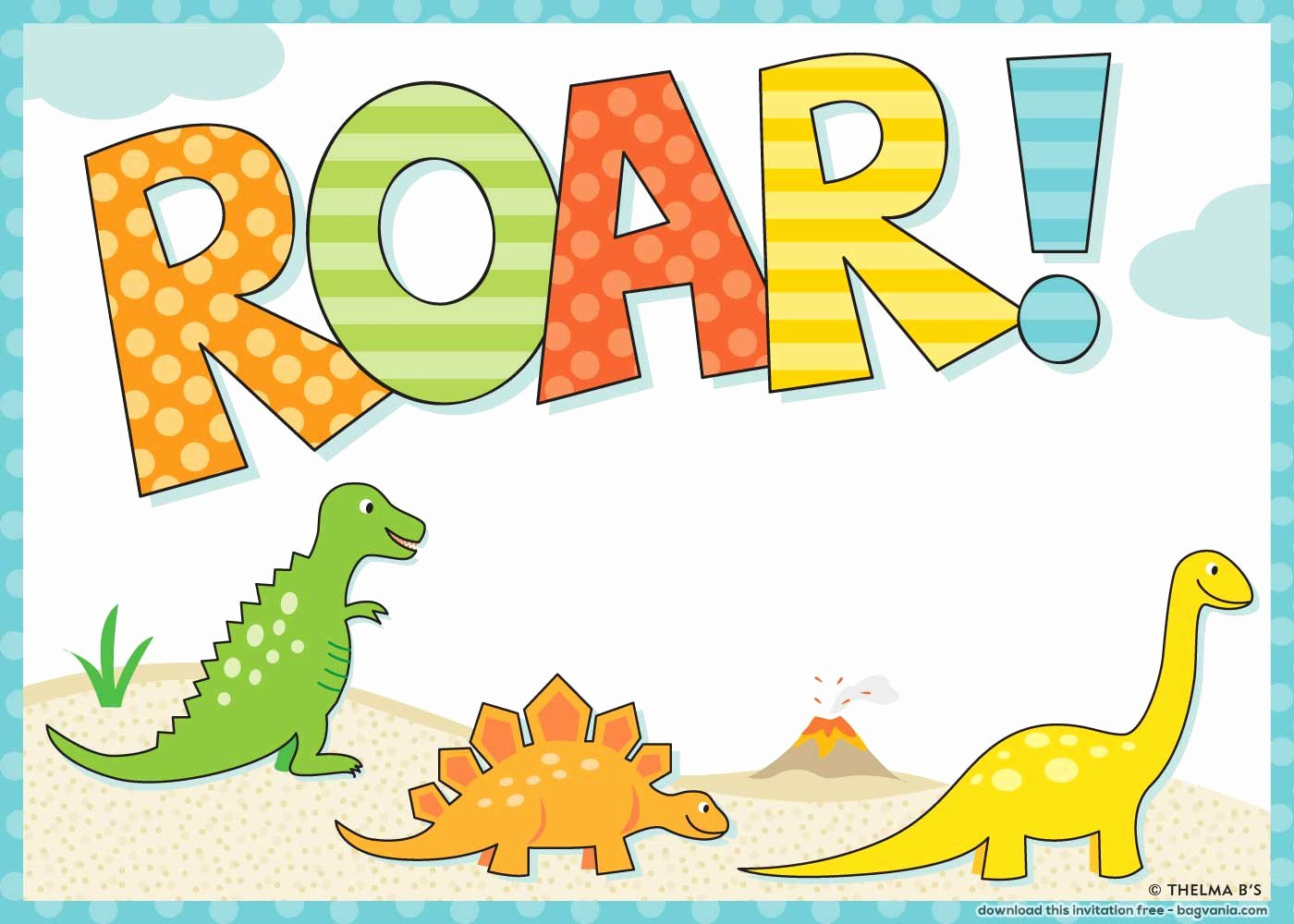 Dinosaur Birthday Invitation Template Lovely Free Dinosaur Birthday Invitations – Bagvania Free