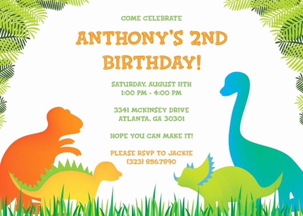 Dinosaur Birthday Invitation Template Luxury 17 Dinosaur Birthday Invitations How to Sample Templates