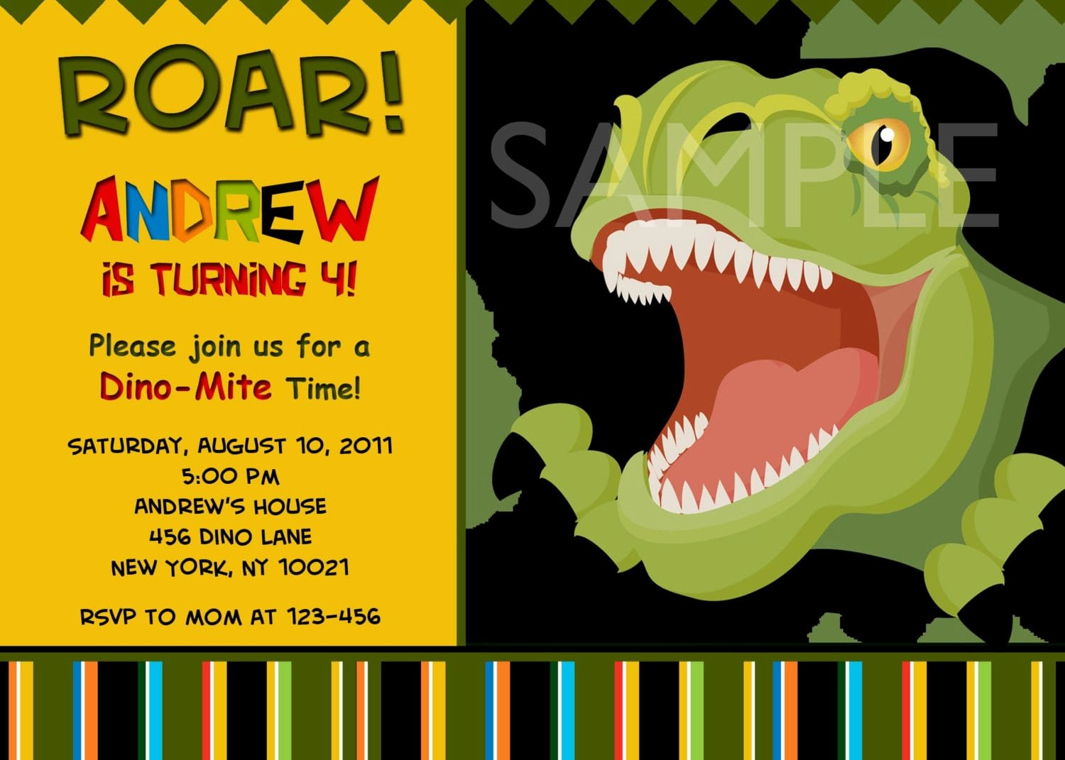 Dinosaur Birthday Invitation Template Luxury Free Dinosaur Invitation