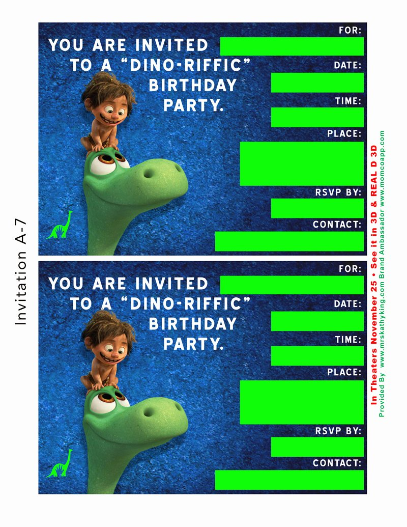 Dinosaur Birthday Invitation Template Luxury Free Good Dinosaur Birthday Party & Playdate Invitation