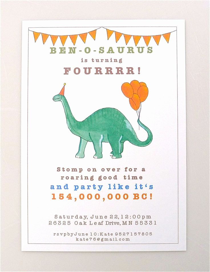 Dinosaur Birthday Invitation Template New 25 Best Ideas About Dinosaur Invitations On Pinterest