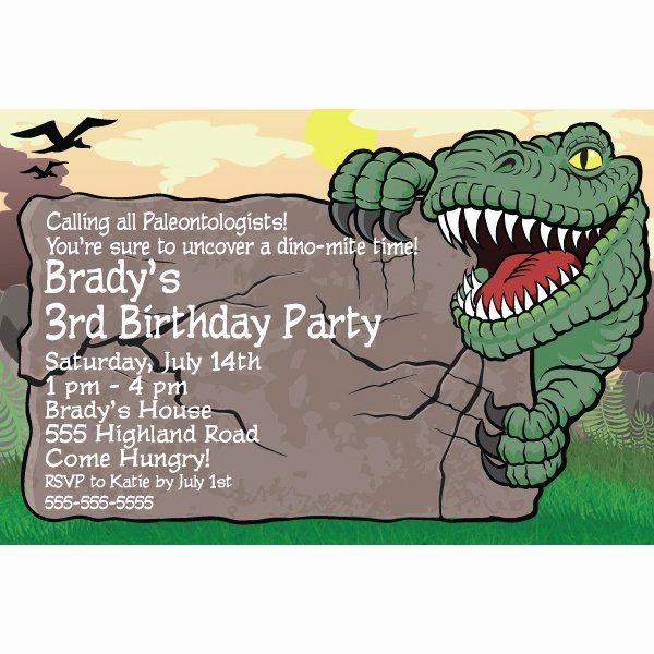 Dinosaur Birthday Invitation Template New Dinosaur Invitations Ideas