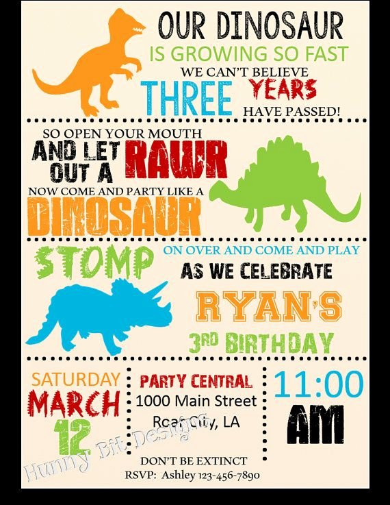 Dinosaur Birthday Invitation Template Unique 25 Best Dinosaur Birthday Invitations Ideas On Pinterest