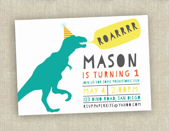 Dinosaur Birthday Invitation Template Unique 38 First Birthday Invitation Templates – Word Psd