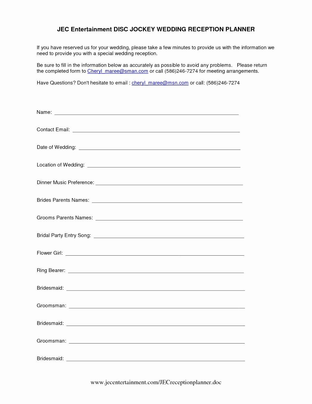 Disc Jockey Contracts Template Elegant Disc Jockey Contracts Template Elegant Wedding Planner