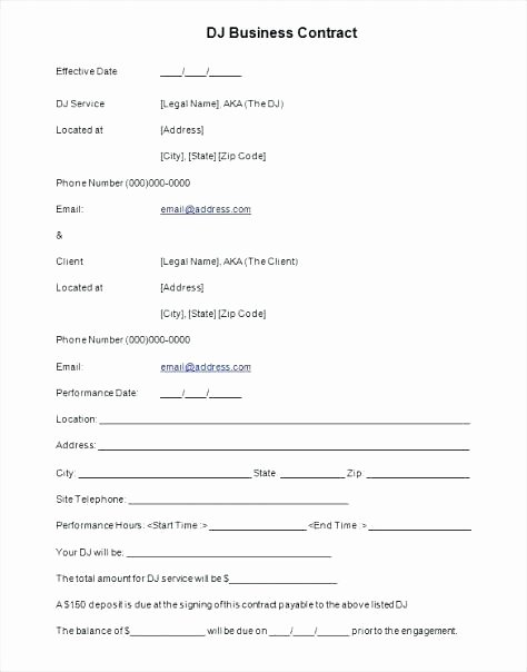 Disc Jockey Contracts Template Luxury Dj Proposal Template – Hazstyle