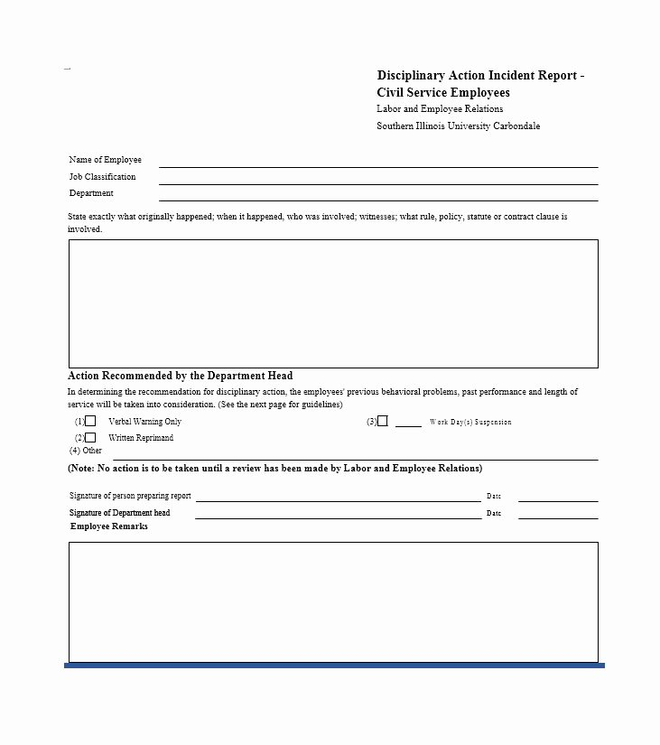 Disciplinary Action form Template Awesome 40 Employee Disciplinary Action forms Template Lab