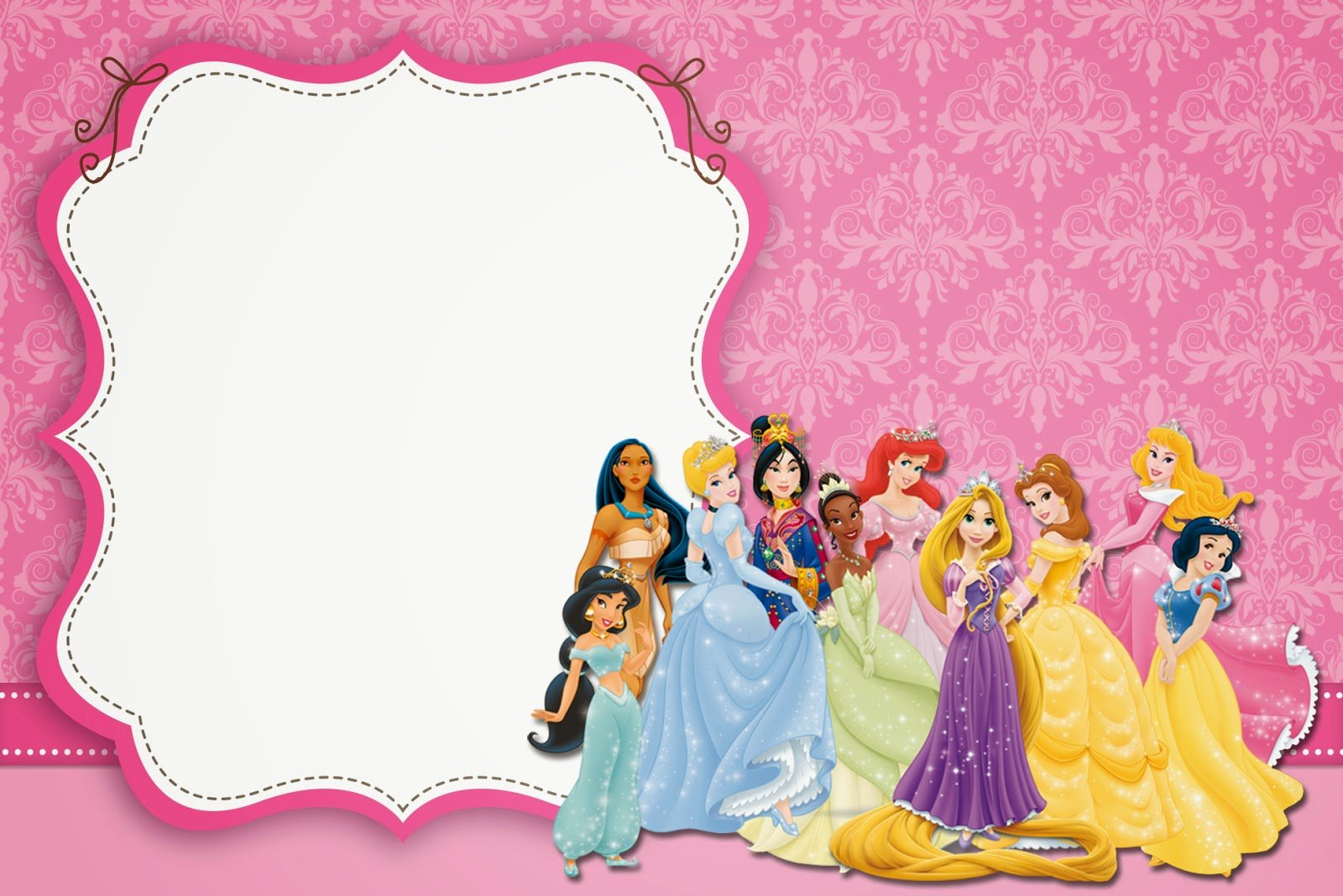 Disney Princess Invitation Template Beautiful Disney Princess Party Free Printable Party Invitations
