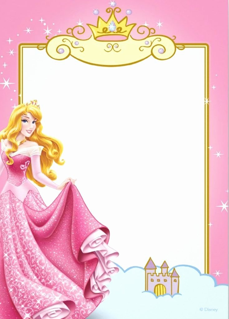 Disney Princess Invitation Template Beautiful Printable Princess Invitation Card Invitatio