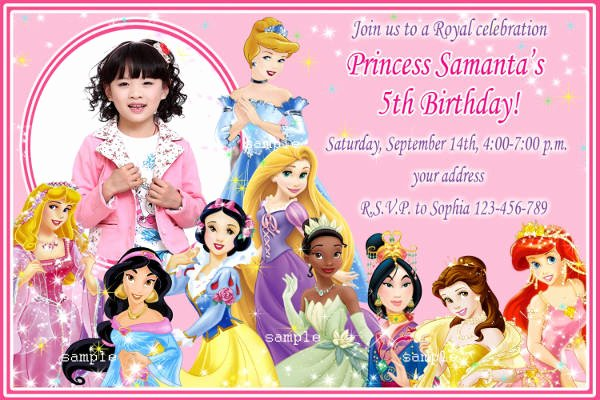 Disney Princess Invitation Template Best Of 11 Disney Invitation Templates Free Sample Example