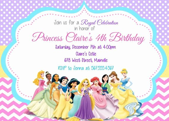 Disney Princess Invitation Template Elegant 25 Best Ideas About Disney Princess Invitations On