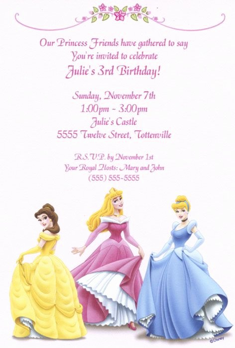 Disney Princess Invitation Template Elegant Free Printable Birthday Invitations Templates