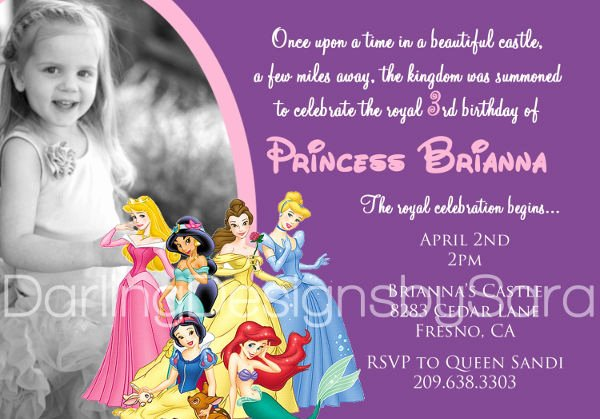 Disney Princess Invitation Template Inspirational 11 Disney Invitation Templates Free Sample Example