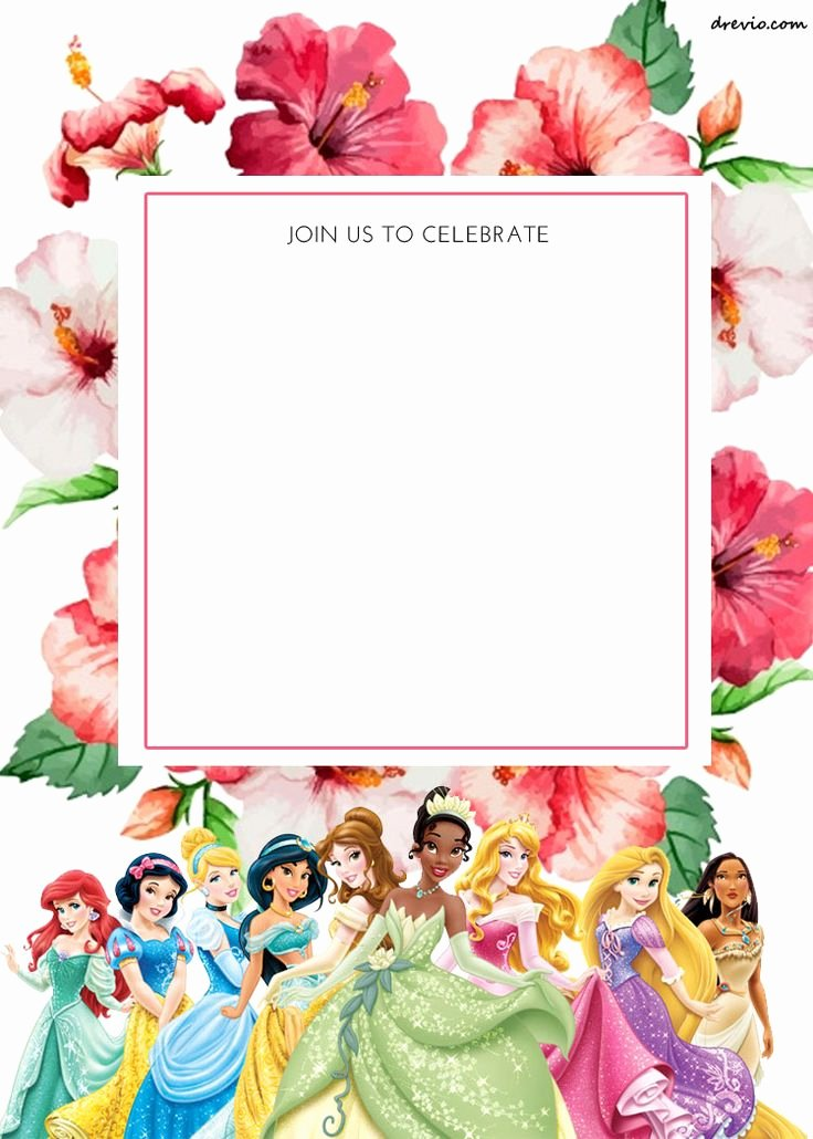 Disney Princess Invitation Template New Best 25 Invitation Templates Ideas On Pinterest