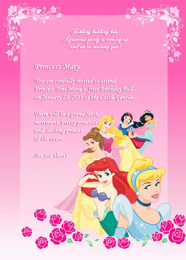 Disney Princess Invitation Template Unique Disney Princess Birthday Invitation 2 ← Wedding Invitation