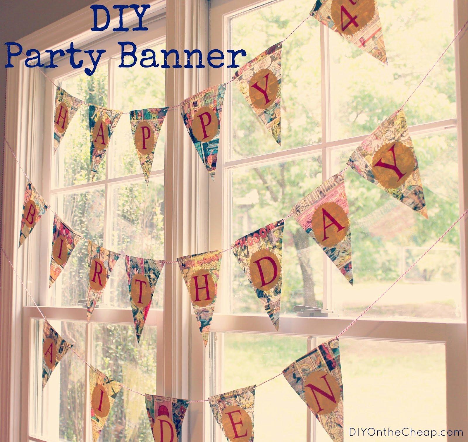 Diy Birthday Banner Template Beautiful Diy Party Banner Erin Spain