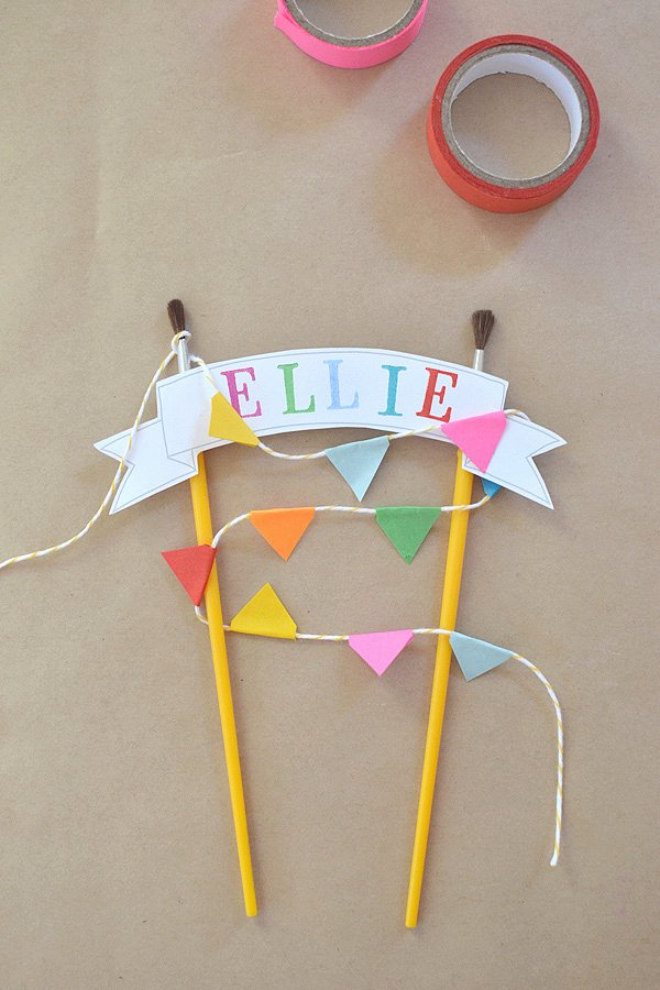Diy Birthday Banner Template Best Of Diy Cake topper with Free Template