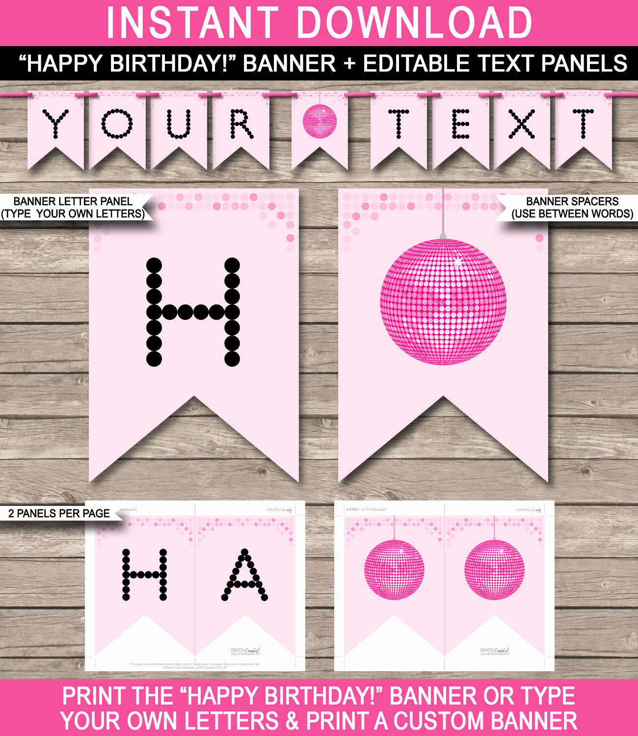 Diy Birthday Banner Template Inspirational Dance Party Banner Template Disco