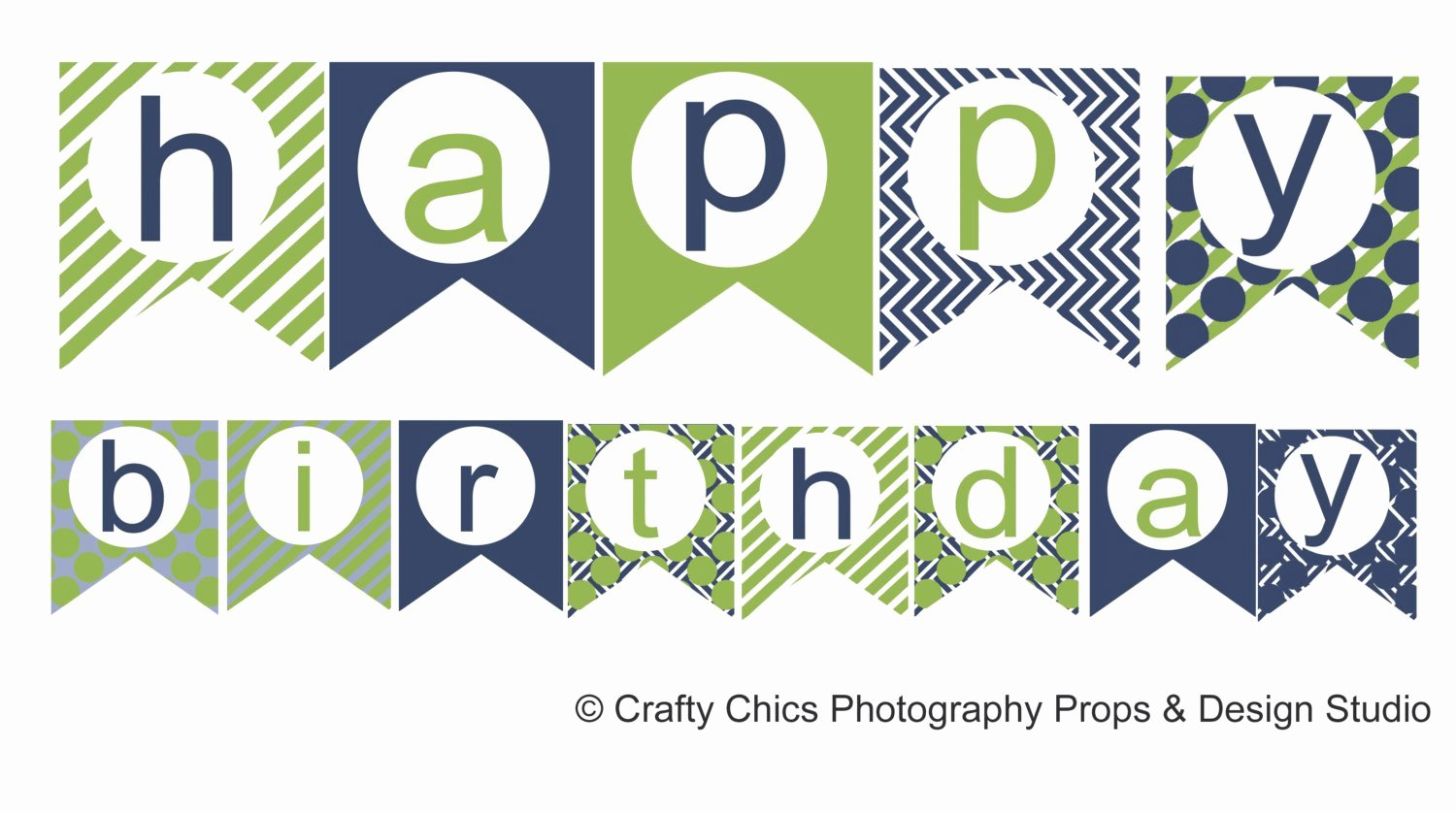 Diy Birthday Banner Template Inspirational Diy Blue Green Happy Birthday Banner Printable