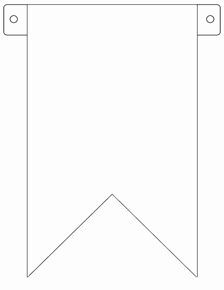 Diy Birthday Banner Template Unique Best 25 Pennant Banner Template Ideas On Pinterest
