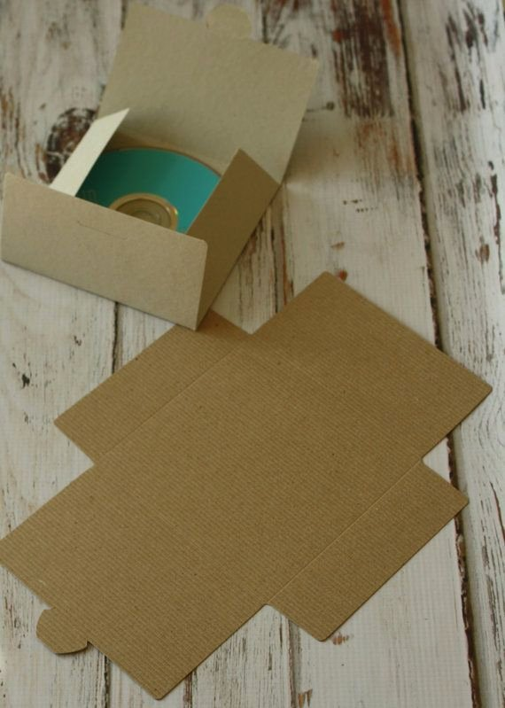 Diy Cd Sleeve Template Inspirational Plain Kraft Eco Friendly Diy No Glue Cd Sleeve by