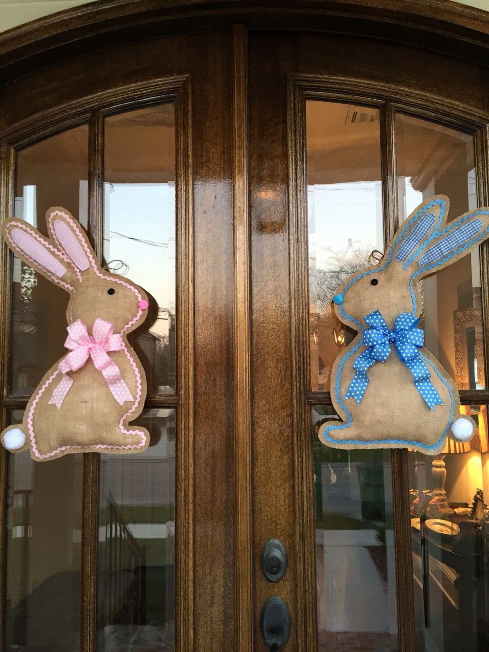 Diy Door Hanger Template Luxury Easter Bunny Side Profile Burlap Door Hanger