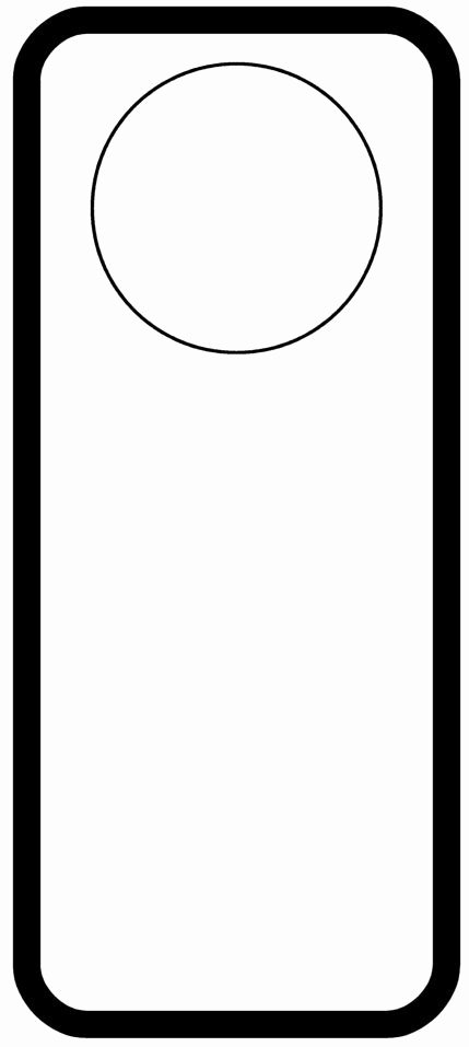 Diy Door Hanger Template New Door Hanger Templates Pinterest