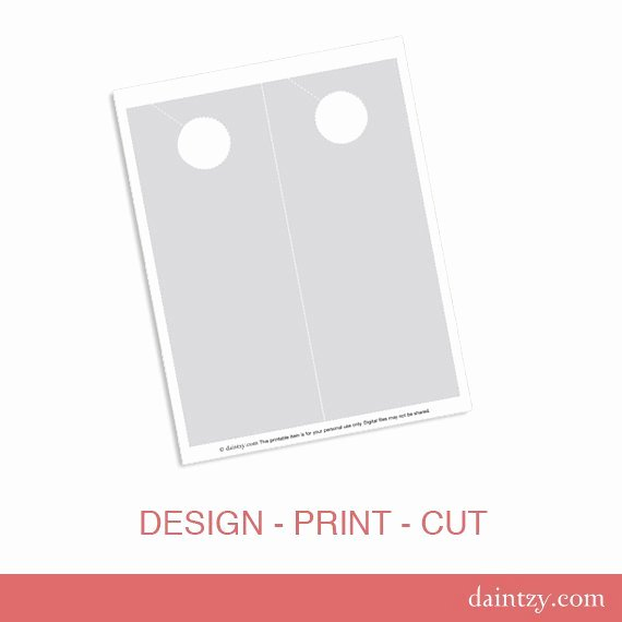 Diy Door Hanger Template New Instant Download Door Hanger Printable Template Diy Make