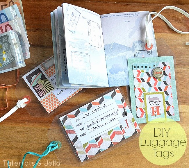 Diy Luggage Tags Template Fresh Make Luggage Tags and A Basicgrey Hipster Box Giveaway