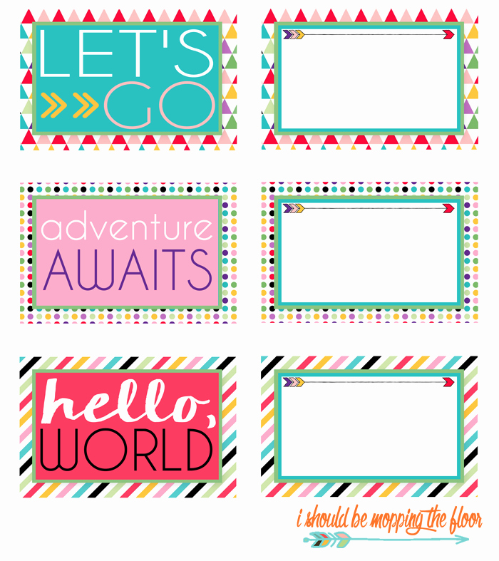 Diy Luggage Tags Template Lovely I Should Be Mopping the Floor Free Printable Luggage Tags