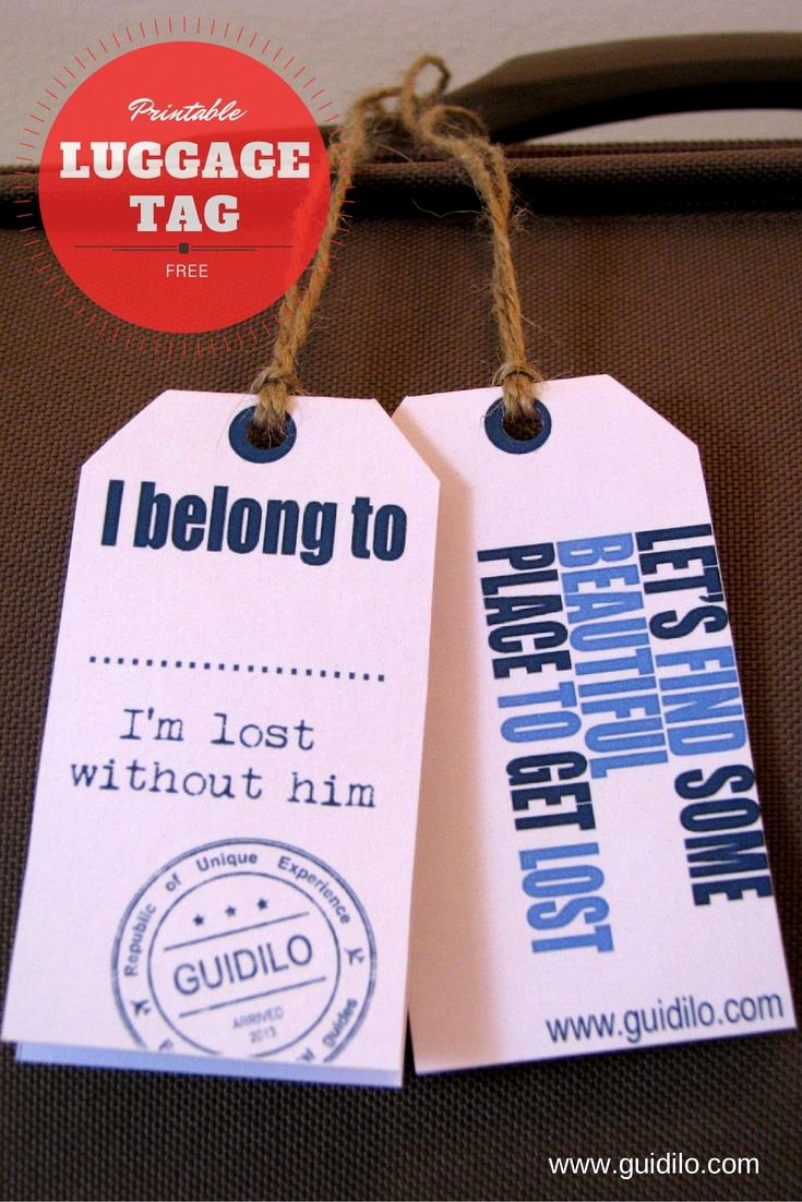 Diy Luggage Tags Template Luxury Bon Voyage with these Free Luggage Tag Printables Made