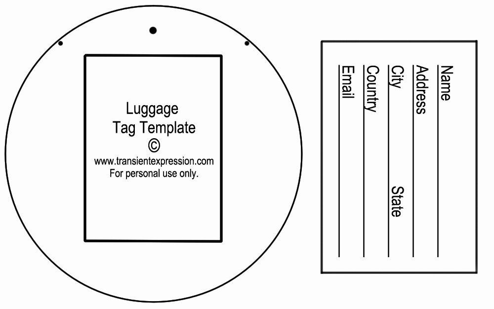 Diy Luggage Tags Template New Luggage Tag Template