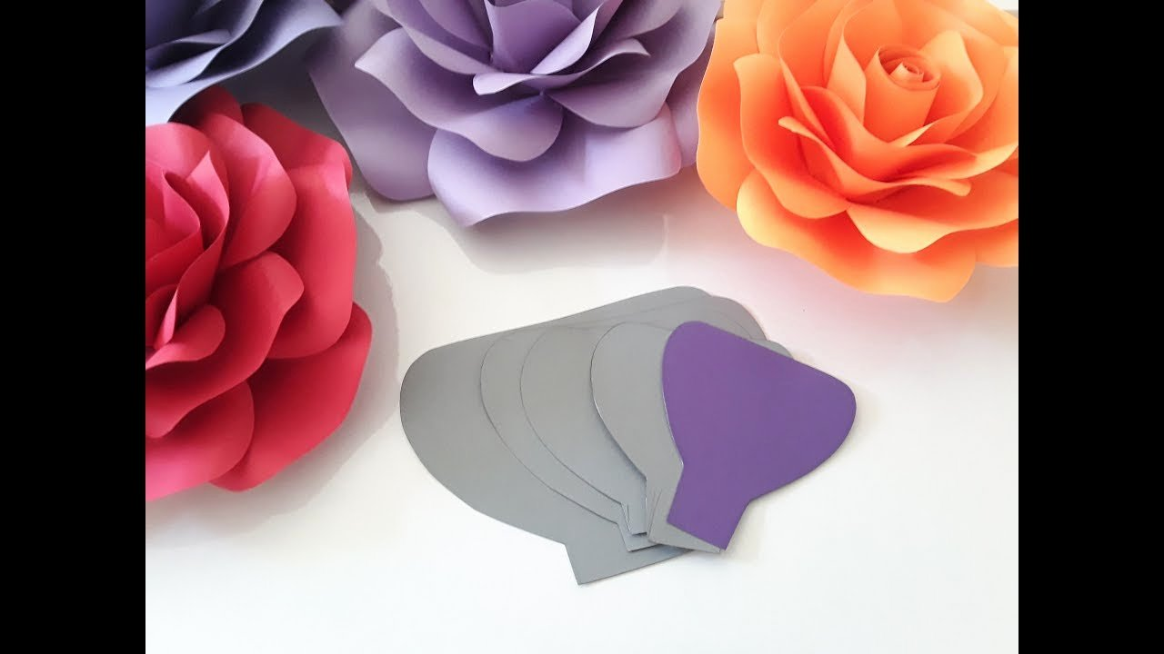 Diy Paper Flower Template Awesome Diy Paper Rose Template Making Tutorial