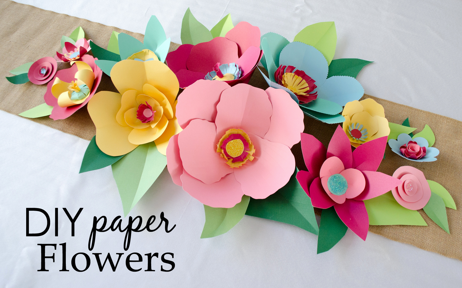 Diy Paper Flower Template Beautiful Diy Hand Cut Paper Flowers Project Nursery