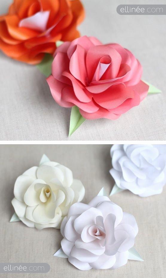 Diy Paper Flower Template Inspirational Diy Paper Roses Full Step by Step Tutorial Plus Free