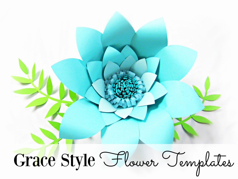 Diy Paper Flower Template Lovely Diy Templates Flower Templates Paper Flower Kit Diy Paper