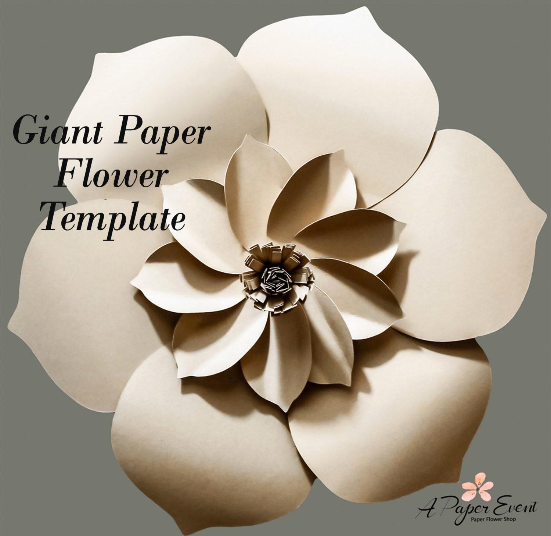 Diy Paper Flower Template Lovely Paper Flower Template Diy Paper Flower Diy Backdrop Paper