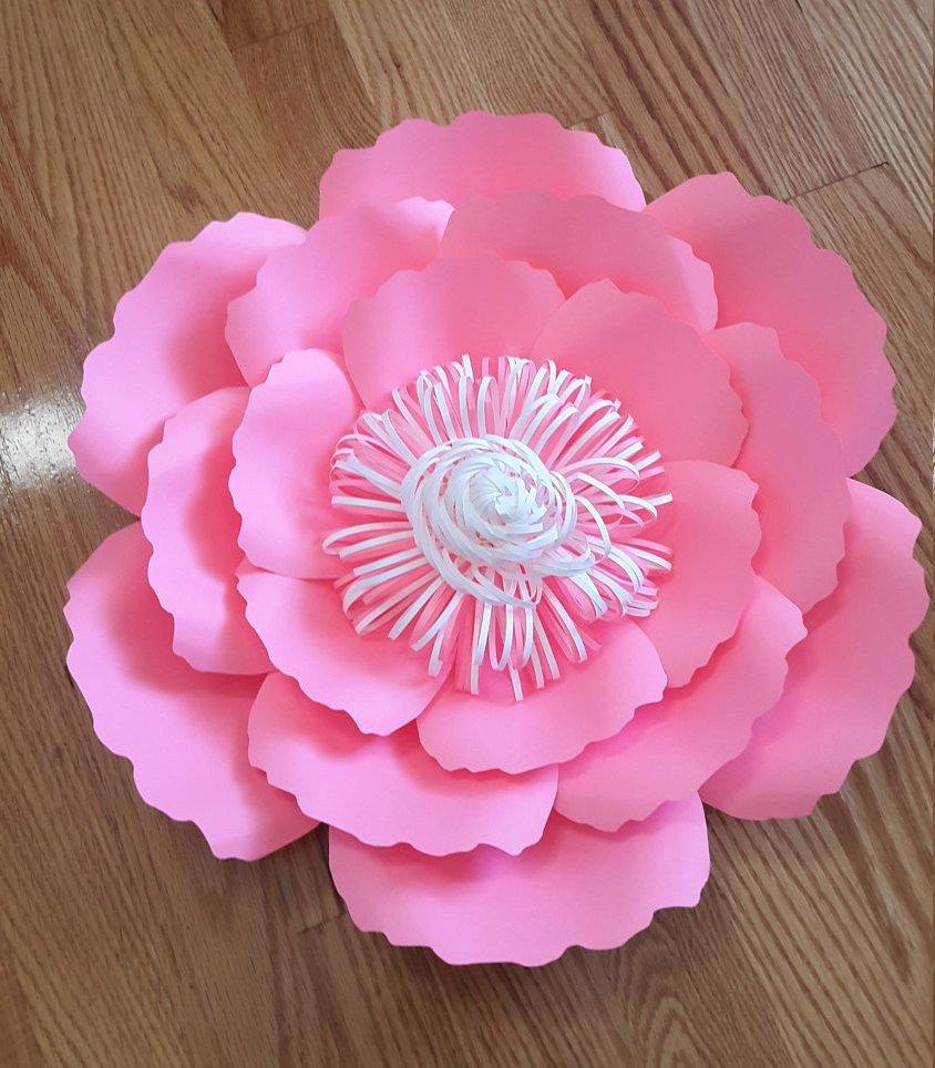 Diy Paper Flower Template Luxury Paper Flower Template Svg Cut File Paper Flower Pattern