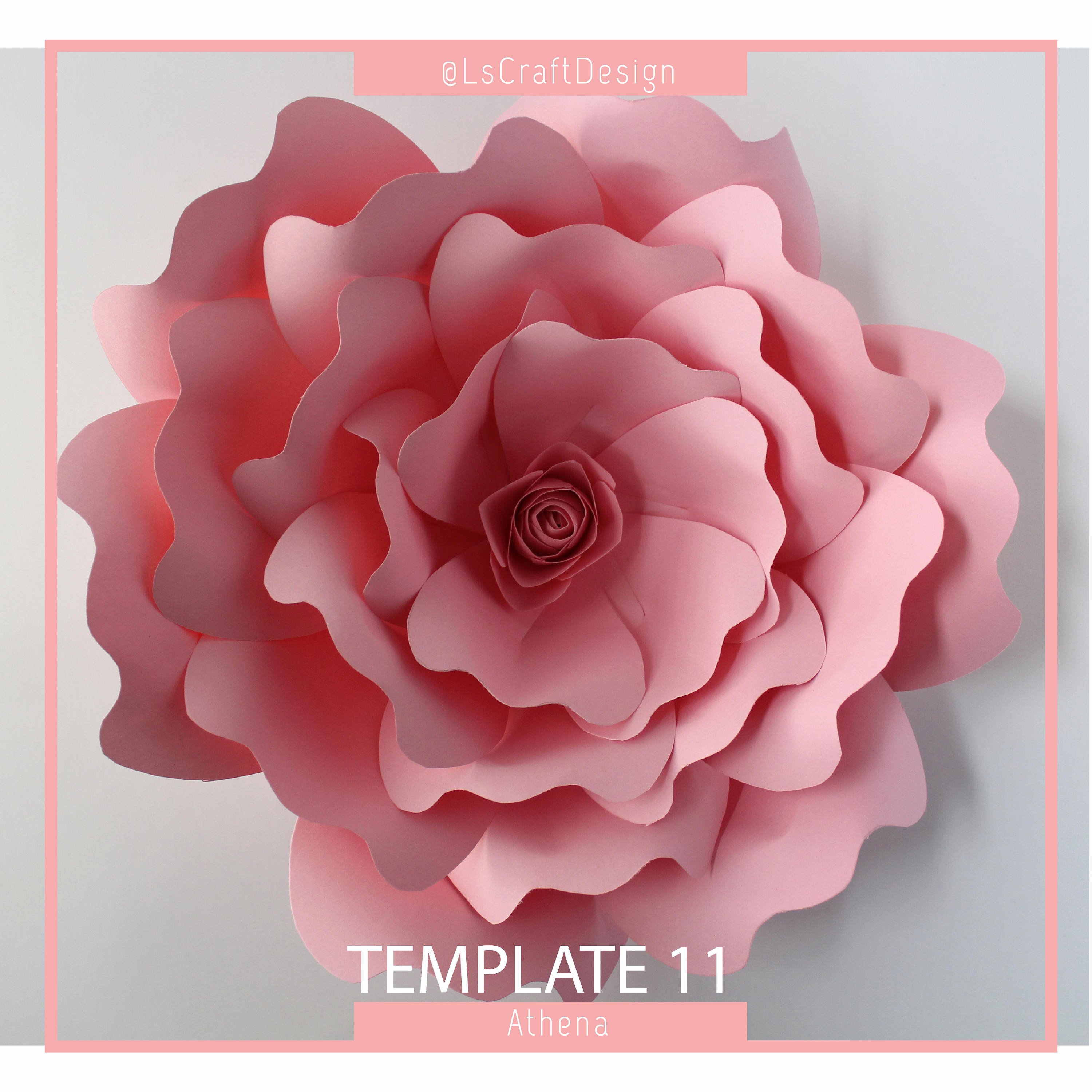 Diy Paper Flower Template New Valentines Day Pdf Paper Flower Paper Flower Template