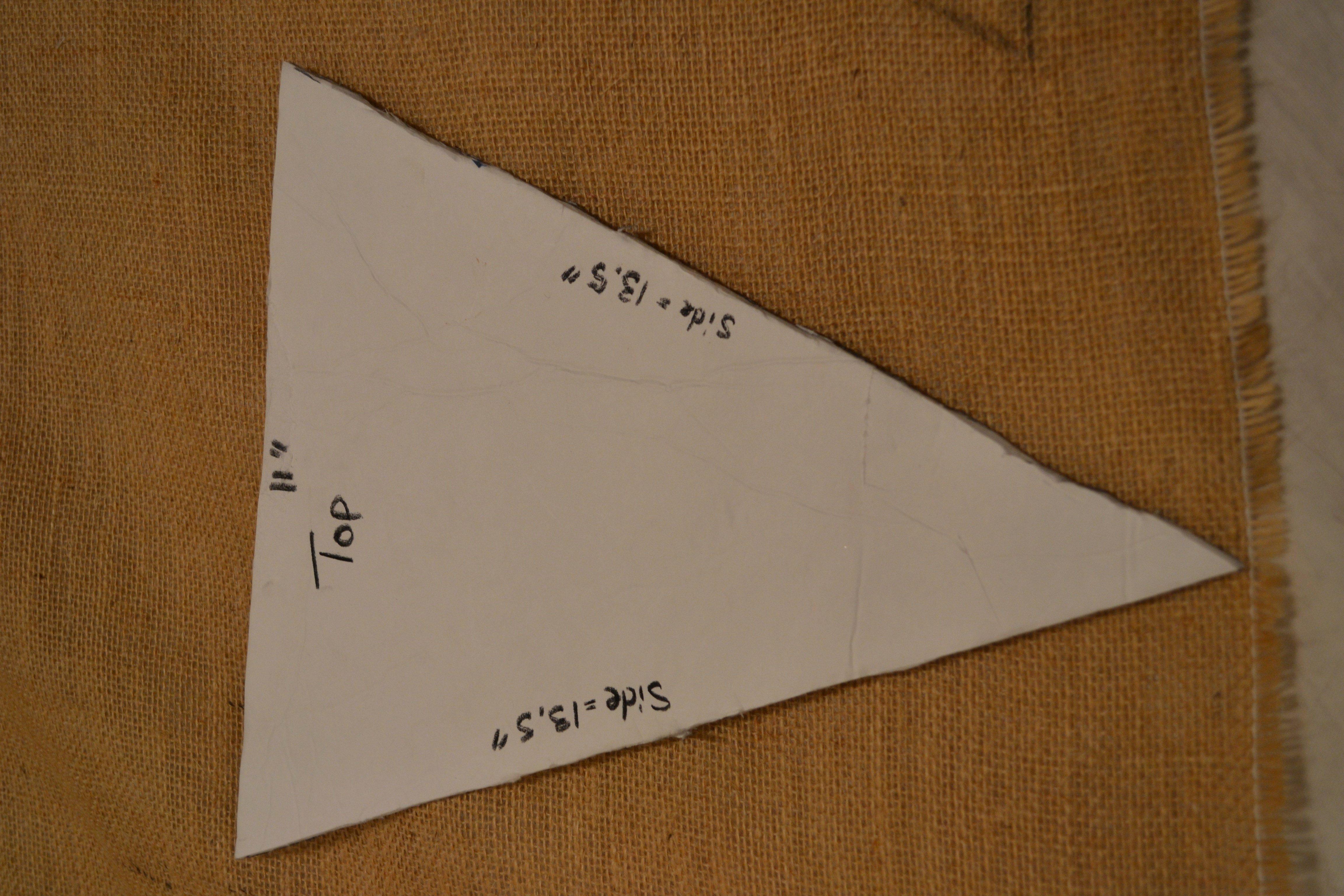 Diy Pennant Banner Template Awesome Diy Burlap Pennant Banner