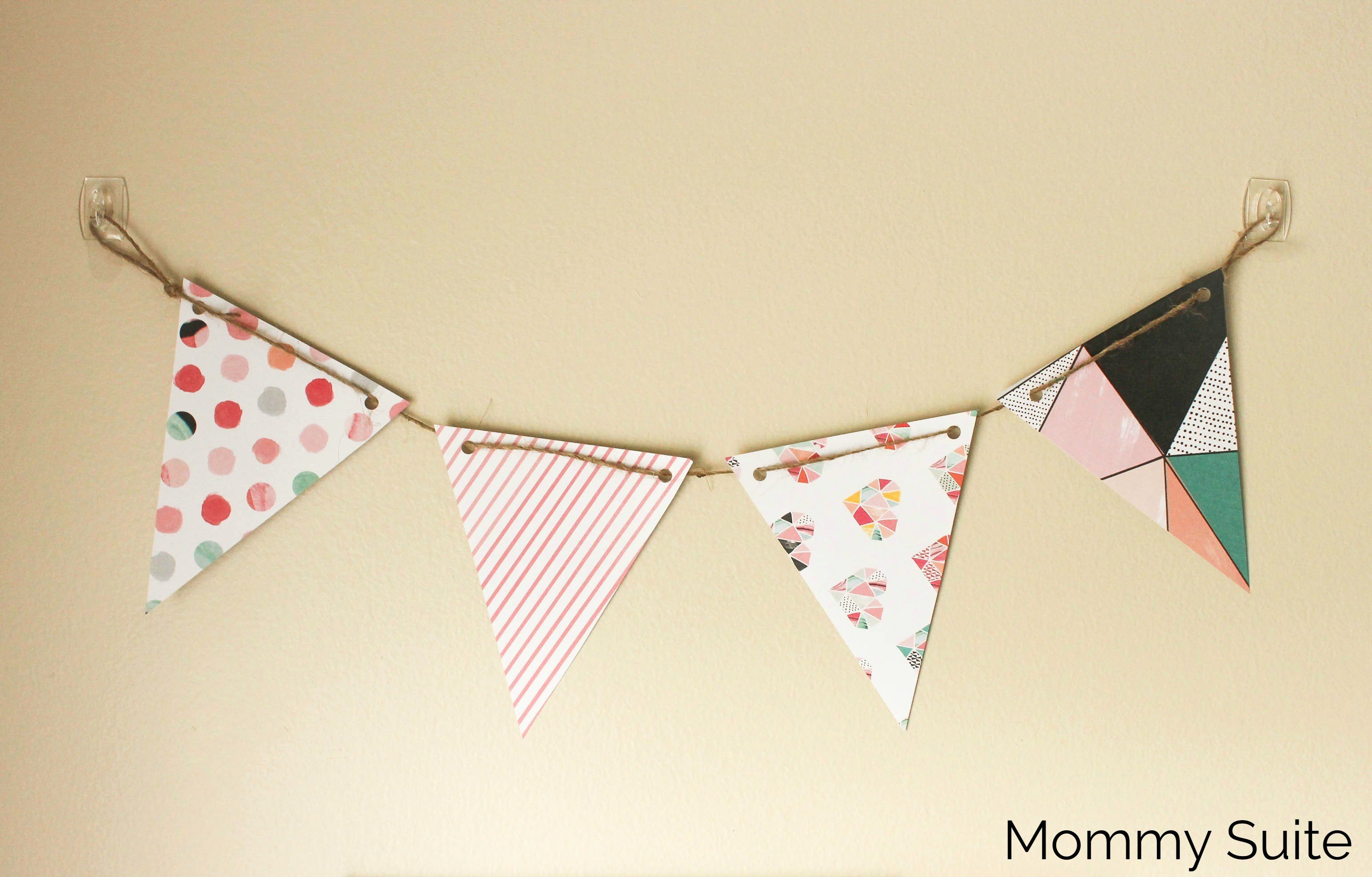 Diy Pennant Banner Template Beautiful Diy Paper Pennant Banner W Free Template Mommy Suite