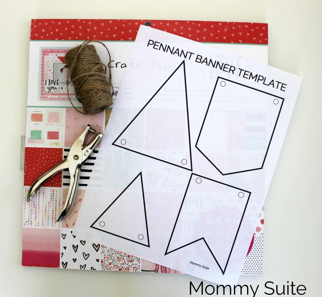 Diy Pennant Banner Template Luxury Diy Paper Pennant Banner W Free Template Mommy Suite