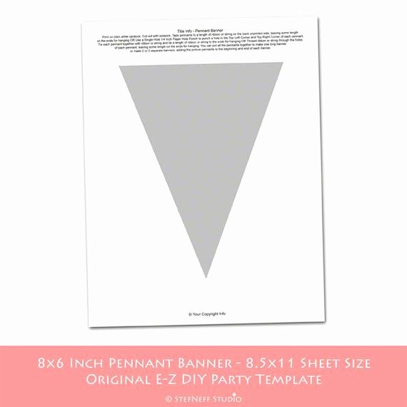 Diy Pennant Banner Template Luxury Items Similar to Instant Download Make Your Own Party