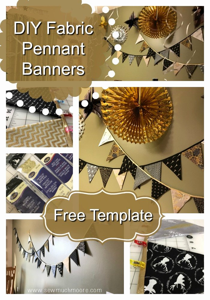Diy Pennant Banner Template New Diy Fabric Pennant Banners