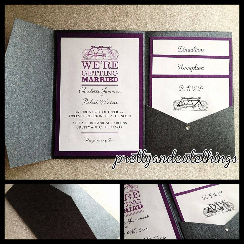 Diy Pocket Invitations Template Awesome Black Metallic Shimmer Wedding Invitations Diy Pocket