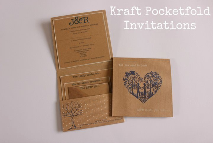Diy Pocket Invitations Template Beautiful Diy Tutorial Kraft Pocketfold Invitations