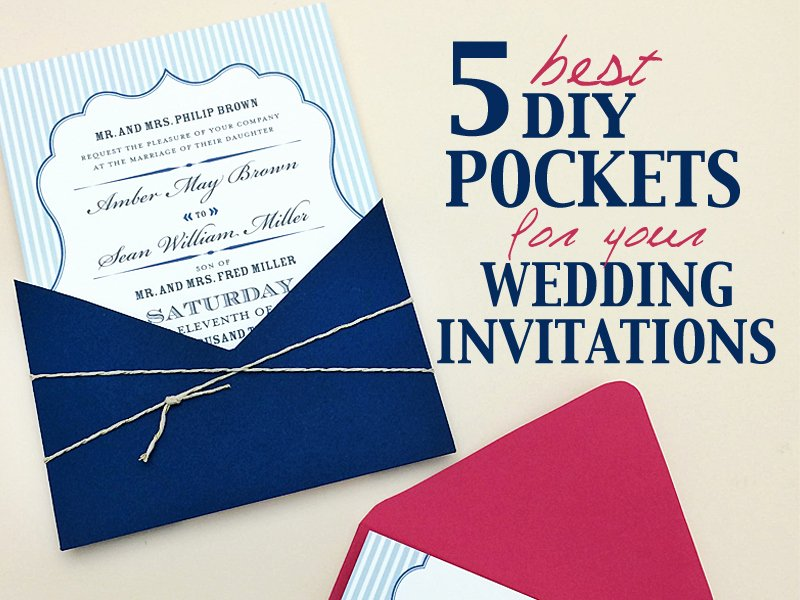 Diy Pocket Invitations Template Best Of Best Diy Pocketfolds for Your Wedding Invitations