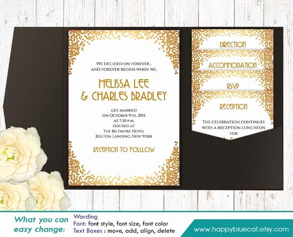 Diy Pocket Invitations Template Best Of Diy Printable Pocket Wedding Invitation Template Set Instant